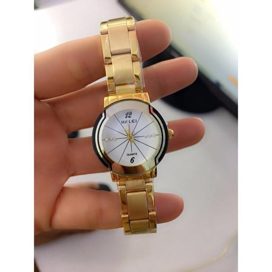 Đồng hồ nữ halei chống xước  chống nước tuyệt đối hợp kim không phai zỉ.
