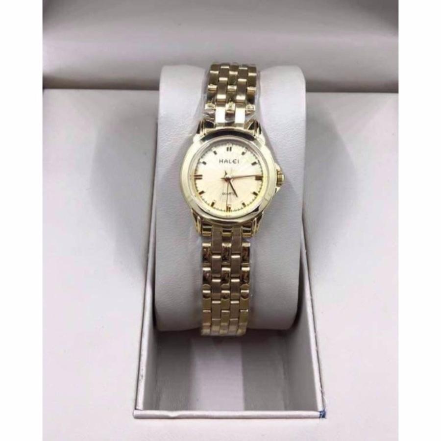 Đồng hồ nữ Halei HL172 màu vàng chống nước - mặt vàng