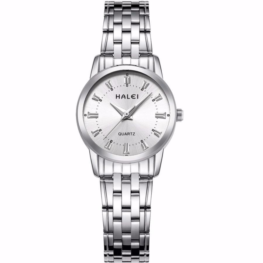 Đồng hồ nữ HaLei HL93 chống nước - dây trắng mặt trắng