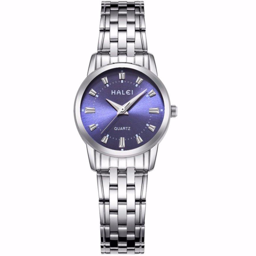 Đồng hồ nữ HaLei HL93 chống nước - dây trắng mặt xanh