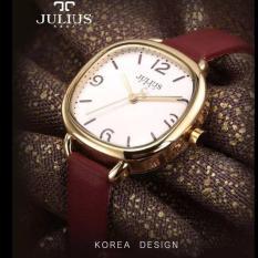Bán Đồng Hồ Nữ Julius Han Quốc Day Da Tg1194 Đỏ Julius Nguyên