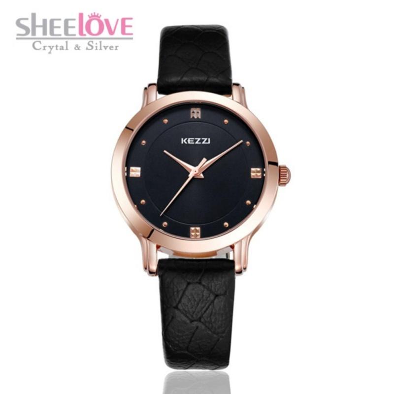 Đồng hồ nữ KEZZI dây da cao cấp phong cách Hàn Quốc WH-K1208