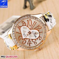 Đồng Hồ Nữ Khung Viền Kim Cương Tinto Qua0205 Rẻ