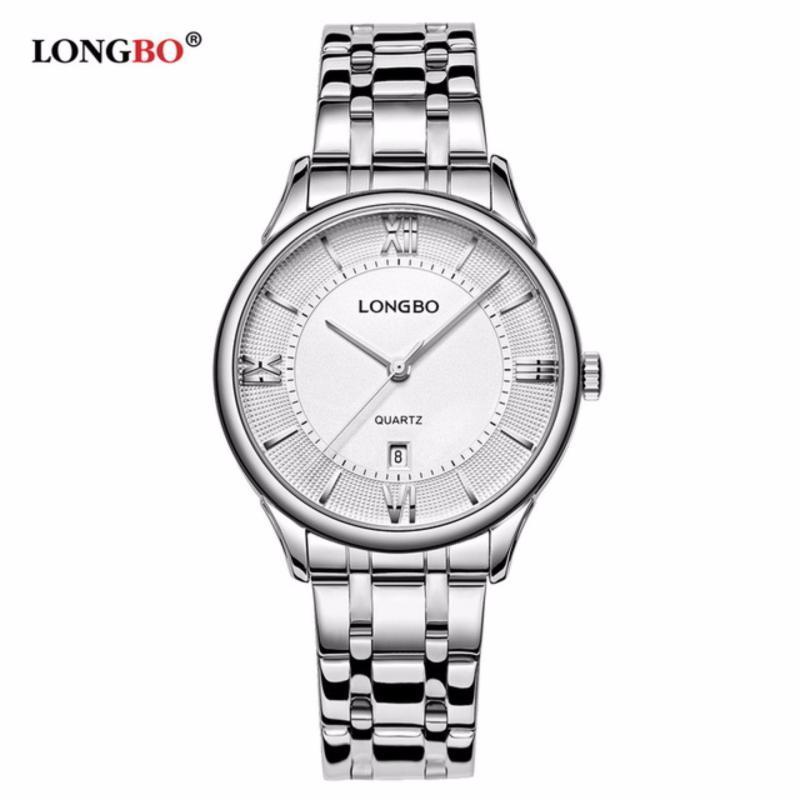 Nơi bán Đồng hồ Nữ LONGBO 5001L-S01 (trắng, mặt trắng, dây trắng thép không gỉ)