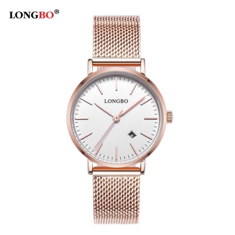 Nơi bán Đồng hồ Nữ LONGBO 5009L-RG01 (mặt trắng, dây mạ vàng hồng, thép không gỉ)