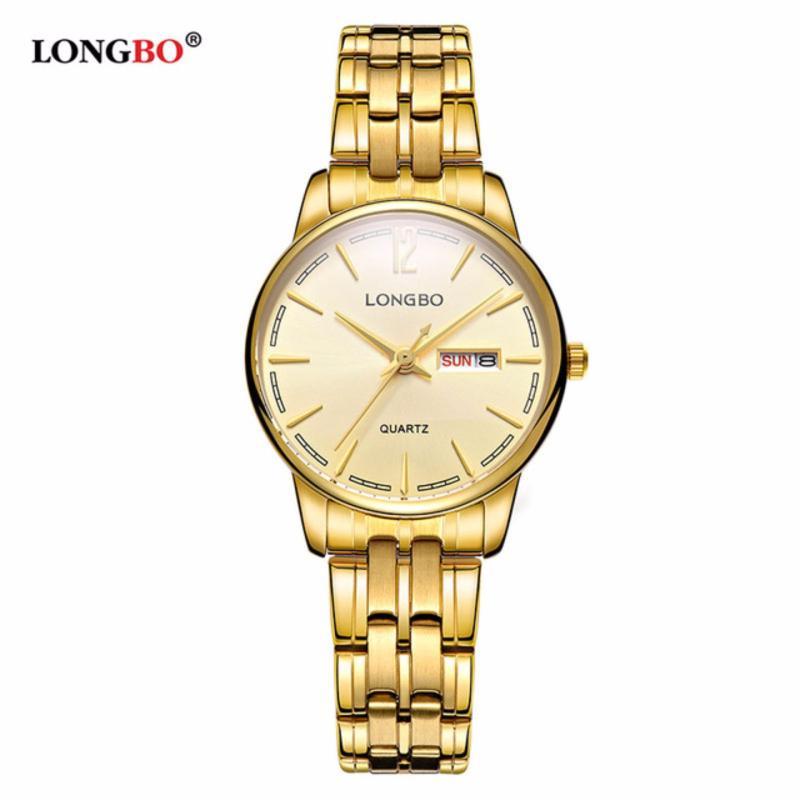 Nơi bán Đồng hồ Nữ LONGBO 5089L-G03 (vàng, mặt vàng, dây mạ vàng, thép không gỉ)
