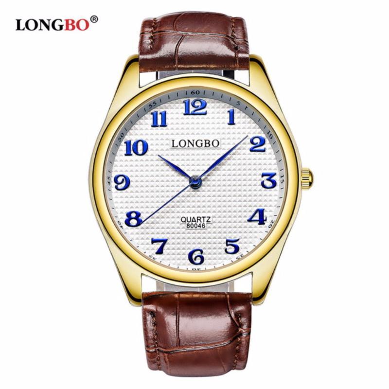 Nơi bán Đồng hồ Nữ LONGBO 80046026 (vàng, mặt trắng, dây da nâu)