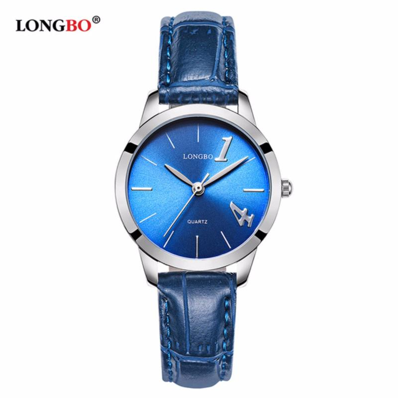 Nơi bán Đồng hồ Nữ LONGBO 80268L-S0707 (trắng, mặt xanh, dây da xanh)