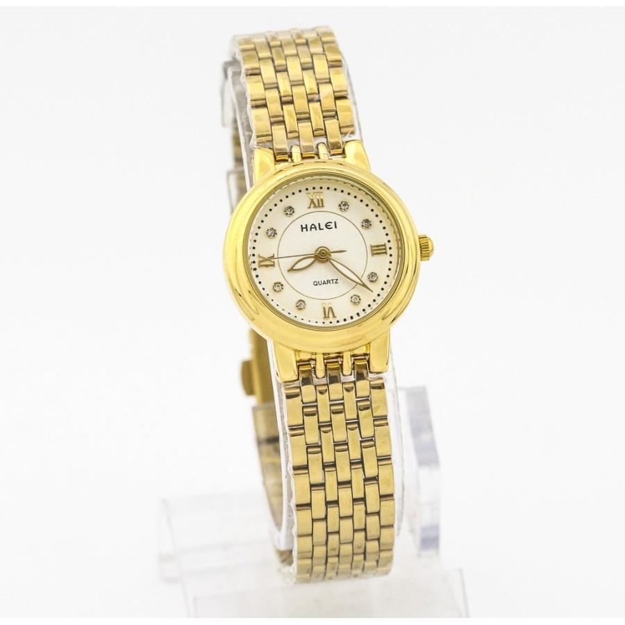 Đồng hồ nữ mạ vàng cao cấp Halei chống nước HL5910