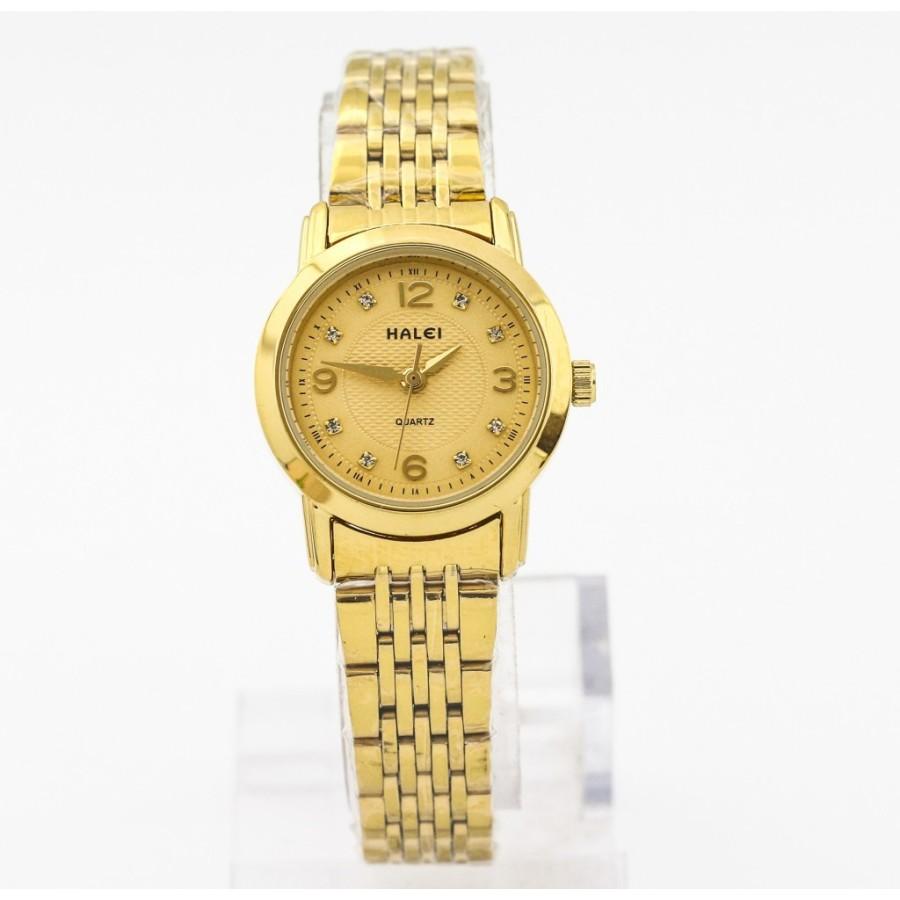 Đồng hồ nữ mạ vàng cao cấp Halei chống nước SMHL5735