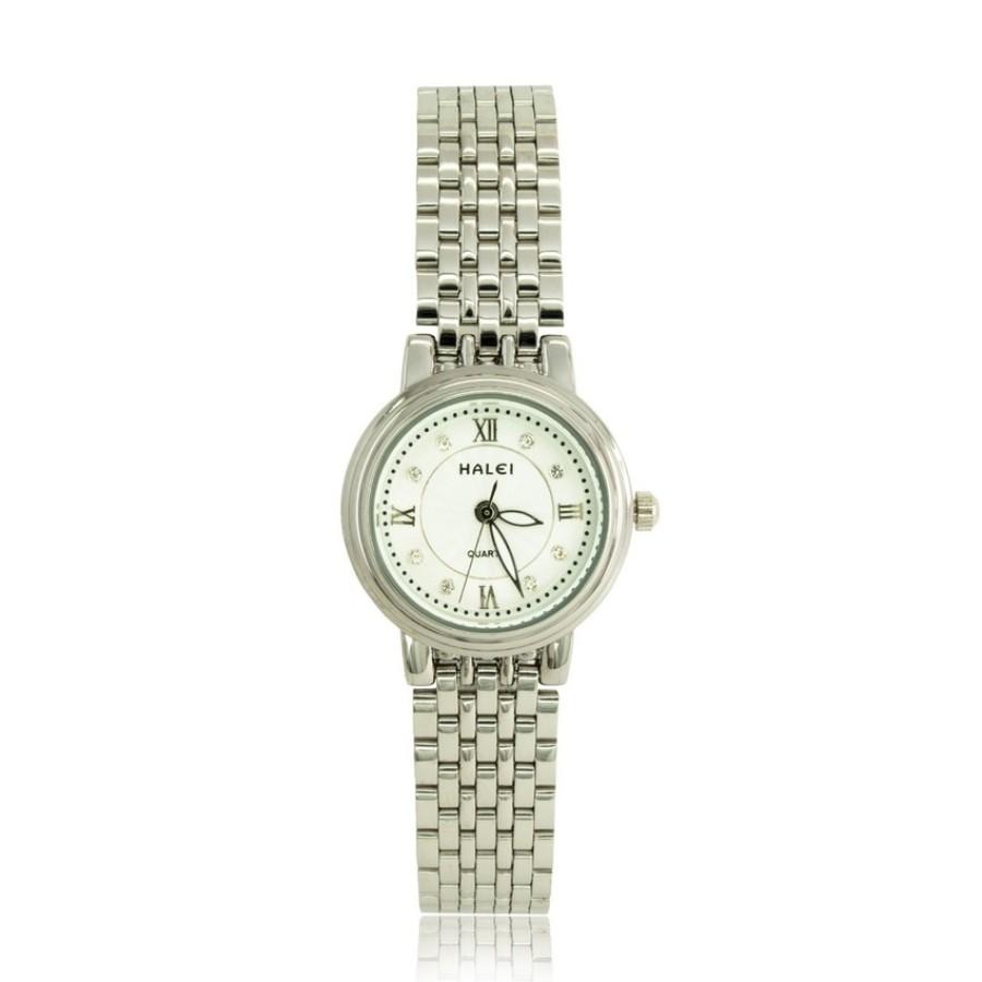 Đồng hồ nữ mạ vàng cao cấp HALEI HL667 (Trắng - Mặt trắng)