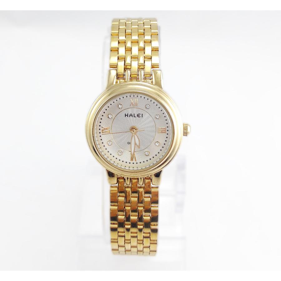 Đồng hồ nữ mạ vàng cao cấp TCT HALEI HL333 (Mặt trắng)