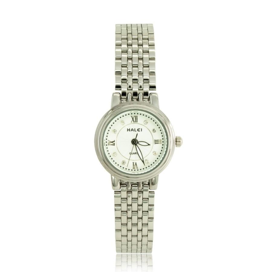 Đồng hồ nữ mạ vàng cao cấp TCT HALEI HL667 (Trắng - Mặt trắng)