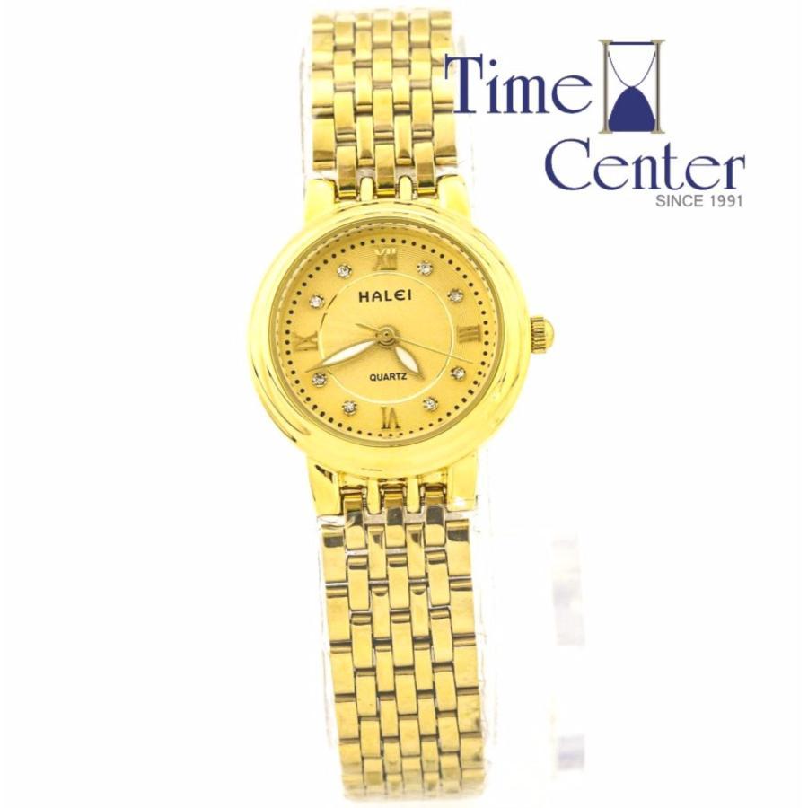 Đồng hồ nữ mạ vàng đính đá Halei HL222 mặt vàng    hồng