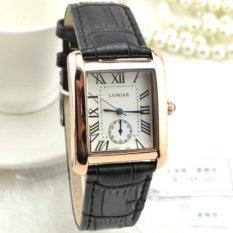 Nơi bán Đồng hồ Nữ Mặt Vuông dây da LANGAR DHL5215