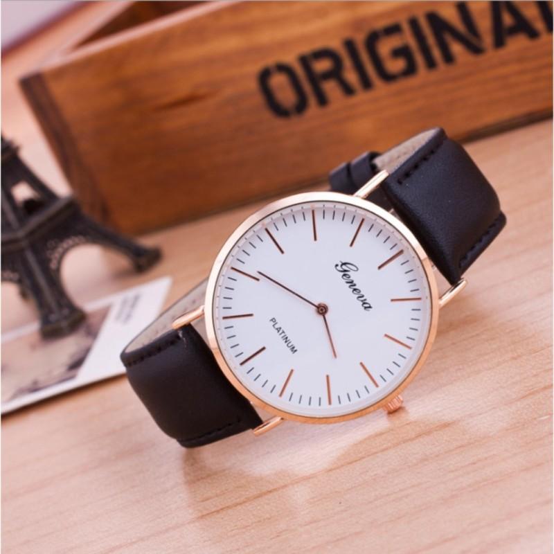 Đồng hồ nữ platrium kiểu dáng sang chảnh ( đen )