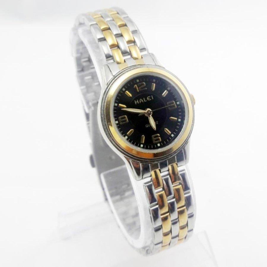 Đồng hồ nữ thời trang cao cấp Halei – HL668 (Mặt đen)