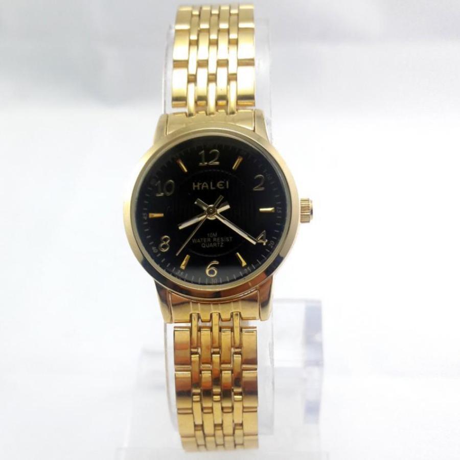 Đồng hồ nữ thời trang cao cấp TCT HALEI – HL666 (Mặt đen)