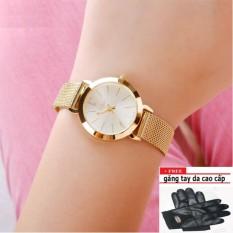 Hình ảnh Đồng hồ nữ thời trang PJ70LPU (vàng) + tặng găng tay da cao cấp
