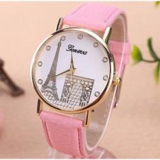 Đồng Hồ Nữ Thời trang Tháp NK001 - Màu hồng đính đá