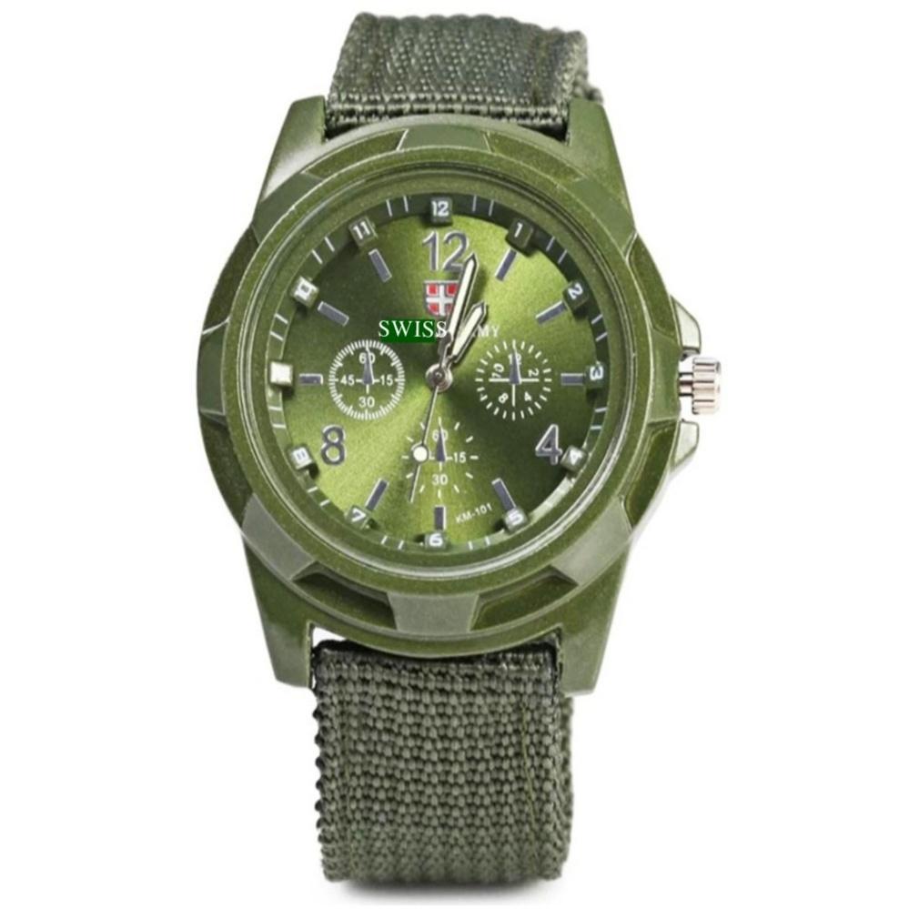 Nơi bán Đồng hồ quân đội dây vải dù Army GL (xanh rêu)