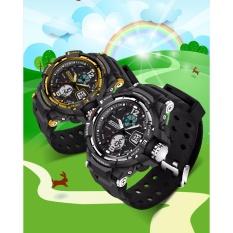 Đồng hồ thể thao trẻ em chống nước SANDA 789, dây silicone (đen - bạc) bán chạy
