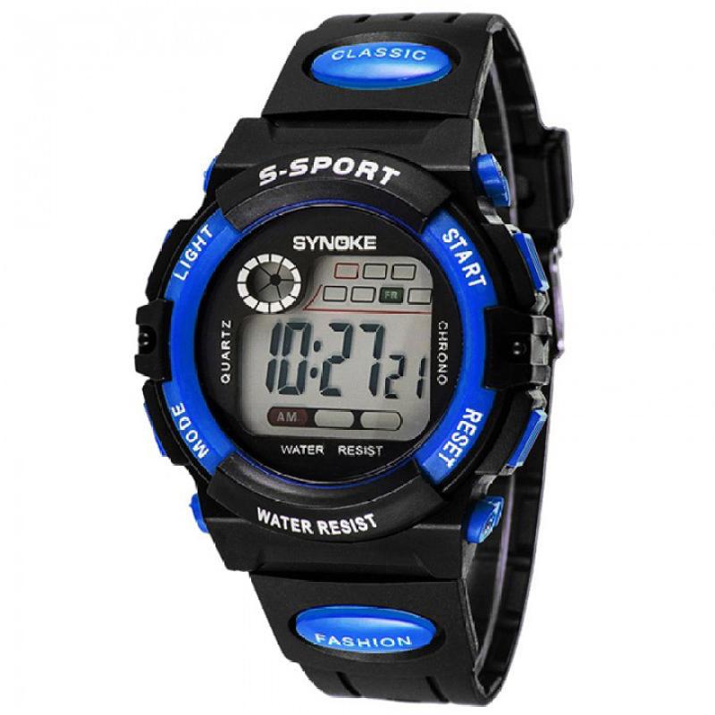 Nơi bán Đồng hồ thể thao trẻ em dây nhựa Synoke  99269 (Xanh)