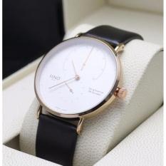 Đồng hồ thời trang nam SINO 8366 dây da 2 mặt số trẻ trung