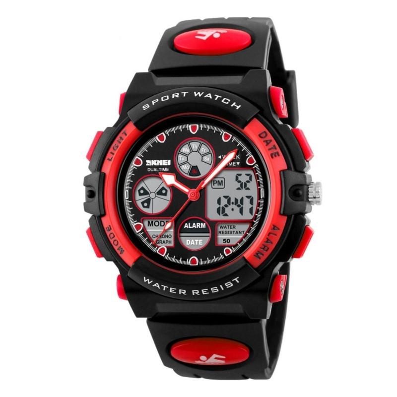 Nơi bán Đồng Hồ thể thao - đồng hồ điện tử Trẻ Em Dây Cao Su Skmei 1163 Đỏ