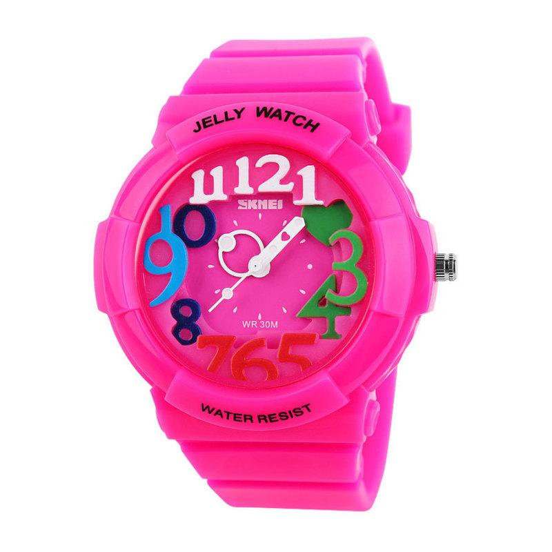 Đồng hồ trẻ em dây nhựa Skmei 1042C (Hồng đậm) bán chạy
