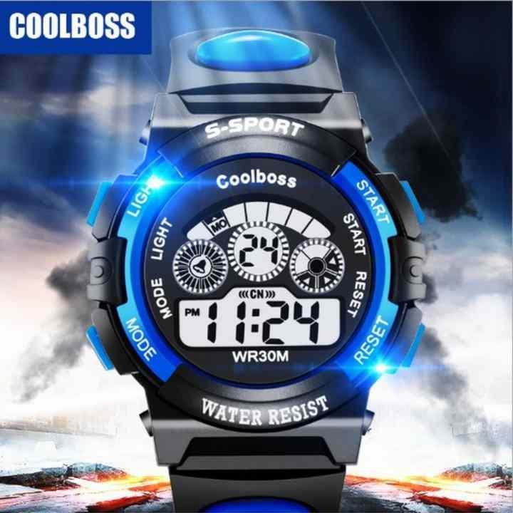 Đồng hồ trẻ em Decoshop68 W01-XD màu xanh đen giá tốt