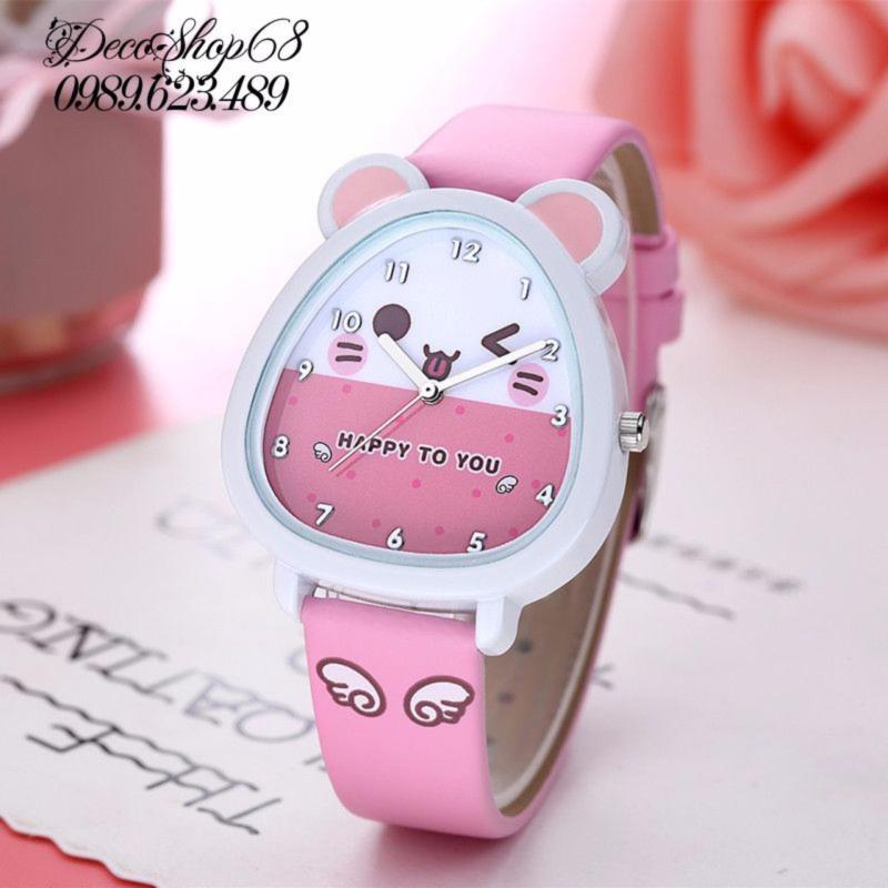 Đồng hồ trẻ em Decoshop68 W07-H màu hồng giá tốt bán chạy