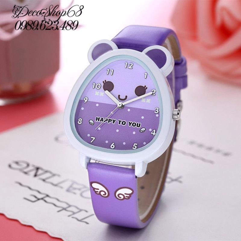 Đồng hồ trẻ em Decoshop68 W07-T màu tím giá tốt bán chạy