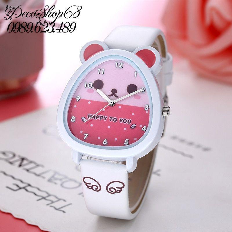 Đồng hồ trẻ em Decoshop68 W07-Tr màu trắng giá tốt bán chạy