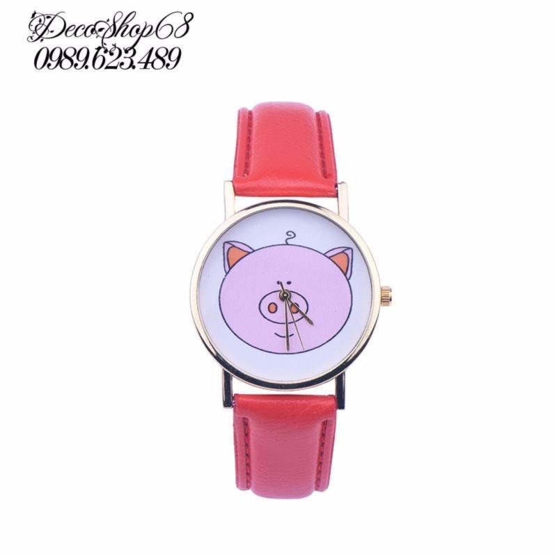 Đồng hồ trẻ em Decoshop68 W09-Do màu đỏ giá tốt bán chạy