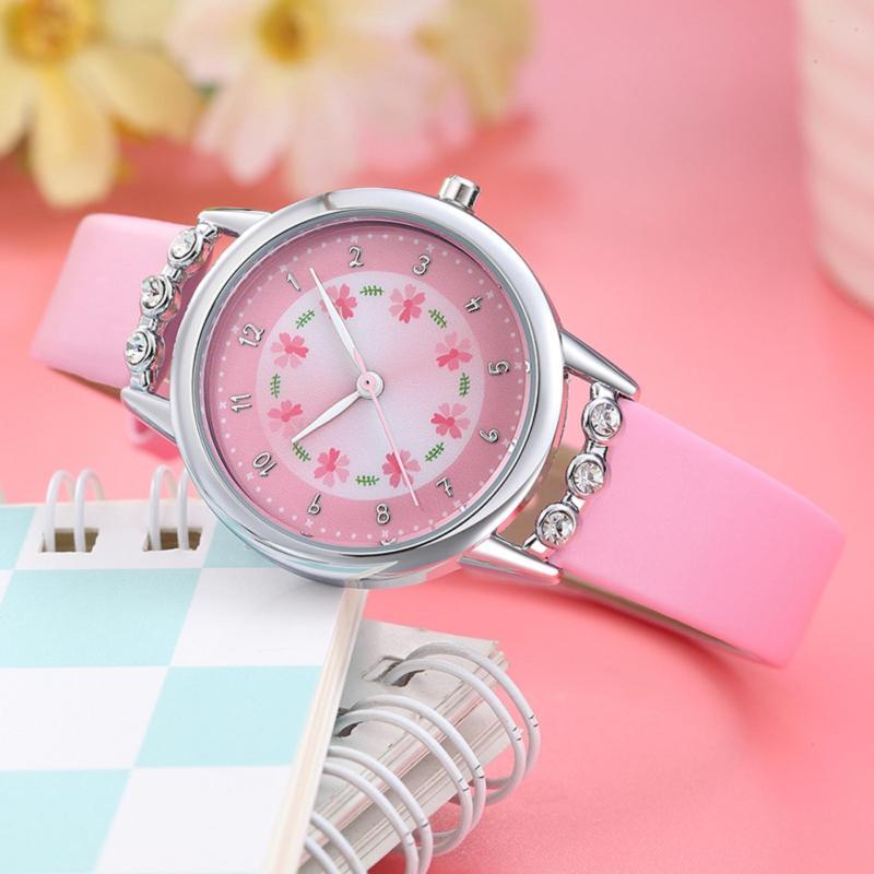 Đồng hồ trẻ em Decoshop68 W13-H màu hồng giá tốt bán chạy