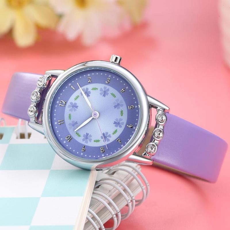 Đồng hồ trẻ em Decoshop68 W13-Tim màu tím giá tốt bán chạy