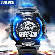 Hình ảnh Đồng hồ trẻ em nam chống nước cao cấp Coolboss 0119 tặng thêm 1 pin ( Xanh dương )