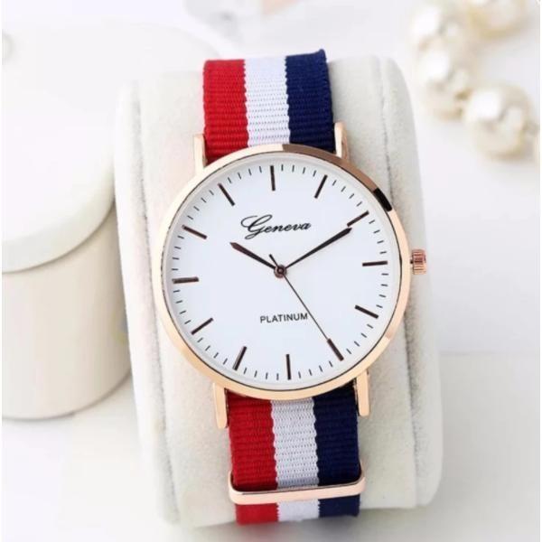 Đồng hồ Unisex dây vải cao cấp Genava PA01 (Tam Sọc)