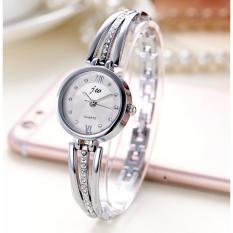 Đồng hồ vòng tay nữ DHVT02 (Mặt Trắng, Dây Trắng) bán chạy