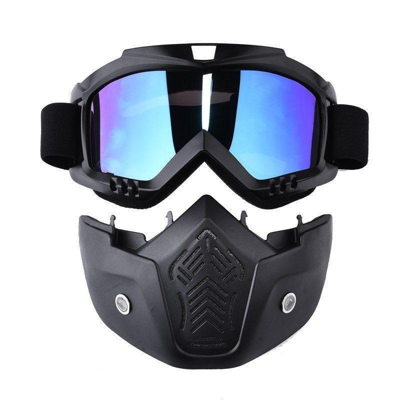 Giá bán Dueplay-New Modular Mask Detachable Goggles Mouth Filter Ski Glass Men Women Windproof Snow Snowboard Skiing Eyewear Fishing - intl