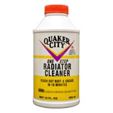Dung Dịch Vệ Sinh Két Nước Ô tô - Xe Máy Quaker City Radiator Cleaner 355ml Made In Usa