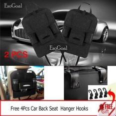 Giá Bán Esogoal 2 Psc Car Backseat Organizer Pu Leather Auto Back Car Seat Organizer Holder Pocket Storage Kick Mats With 4 Hooks Grey Intl Trực Tuyến Trung Quốc