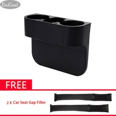 Giá Bán Esogoal Car Seat Seam Wedge Cup Holder Food Drink Bottle Mount Stand Storage Organizer With 2 Car Interior Seat Gap Leakproof Filler Pads Black Intl Trực Tuyến Trung Quốc