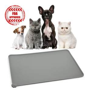 Hình ảnh EsoGoal Pet Food Silicone Mat Waterproof Non-slip Pet Feeding Eating Mat, Pet Bowl Mat, Pet Feeding Tray For Cats and Dogs - intl