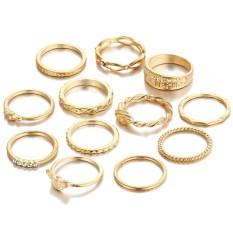 Hình ảnh Fang fang 12 cái/bộ Vintage Nhẫn dành cho Phụ Nữ Và Người Phụ Kiện Trang Sức Nhẫn-quốc tế