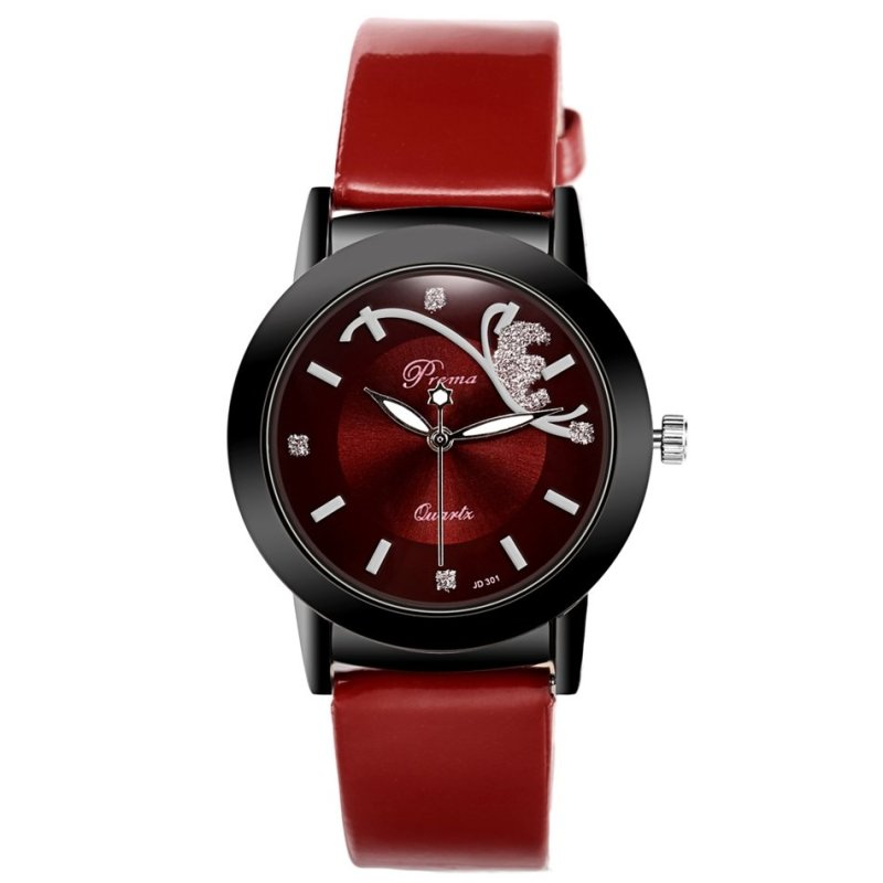 Nơi bán Fashion Classic Women Watch Round Dial Quartz Wristwatch Synthetic Leather Band