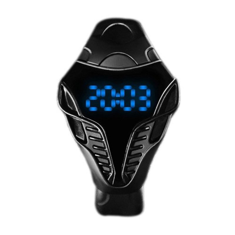 Nơi bán Fashion Unisex Creative Snake Head Shaped LED Digital Electronic Watches Wristwatch blue - intl