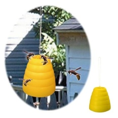 Hình ảnh Flying Hanging Wasp Trap Fly Flies Bee Bug Honey Pot Traps Catcher Poison Free - intl