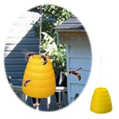 Hình ảnh Flying Hanging Wasp Trap Fly Flies Bug Honey Pot Traps Catcher Poison Free - intl